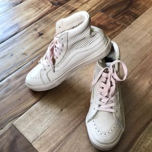 Women's Blush Pink Vans Hi Top Tennis Shoes Sz 7